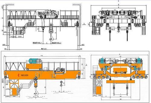 Weihua Yz Foundry Overhead Crane 180/50 200/50 225/65 240