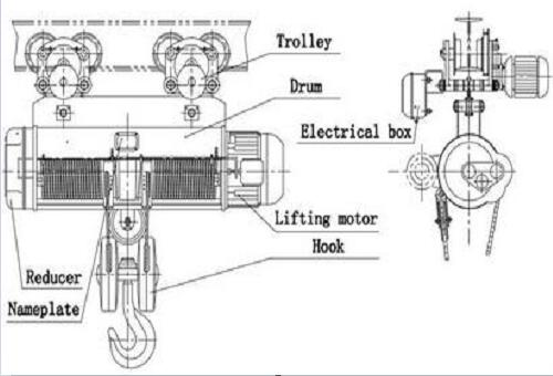 CD Steel Wire Rope Electric Hoist
